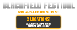 Blackfield 2011: Advance ticket sale -10Eur off for purchases until Oct-31