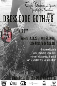 Dress Code Goth #8 Party la Umbra de Noapte in Cluj