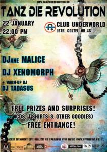 Tanz die Revolution pe 22 ianuarie in club Underworld