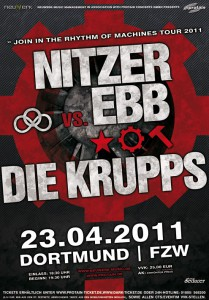 Join In The Rhythm Of Machines Tour 2011 Die Krupps + Nitzer Ebb