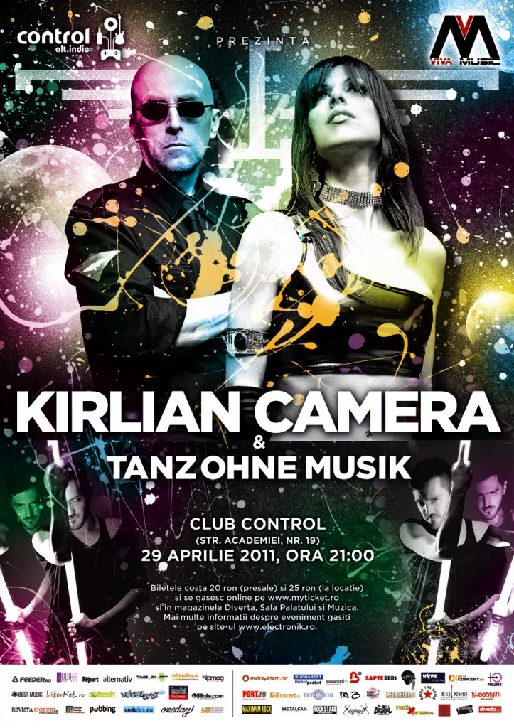Kirlian Camera + Tanz Ohne Musik in Club Control, 29 aprilie 2011