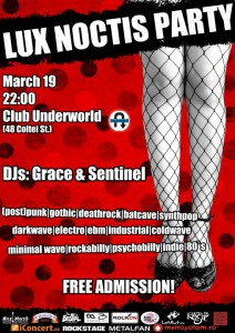 Lux Noctis Party pe 19-martie in Club Underworld