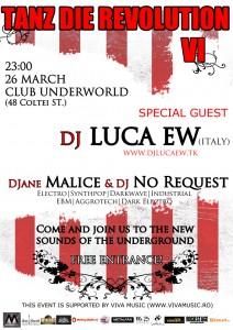 Tanz die Revolution — editia a 6-a — 26 martie in Club Underworld