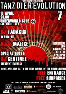 Tanz die Revolution - no. 7 - April-16 in Underworld Club