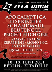 The 5th edition of Zita Rock Festival - 2011 Lineup Now Complete!