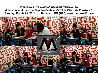 8th electro music show on Bucuresti radio (98.3 fm) on Sunday, Mar 20, 2011