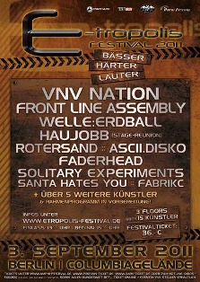 E-tropolis Festival 2011 news - Front Line Assembly confirmed!