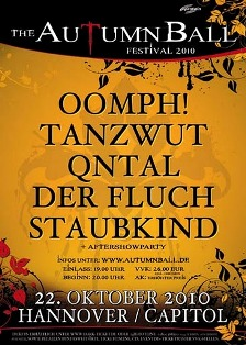 The Autumn Ball Festival with Oomph! this Friday in Hannover!!