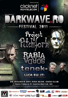 Darkwave.ro Fest 2011 on Jan 29 at Cage Club, Bucharest: Promoter Viva Music